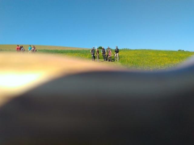 Gruppe von Bogenschützen am Hang