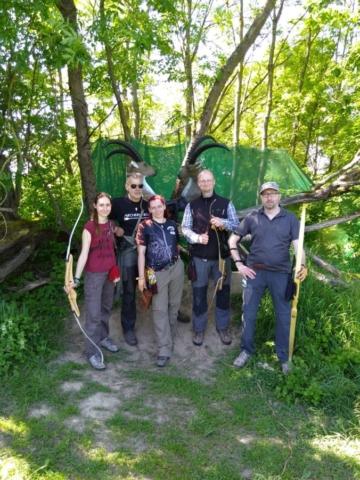 Gruppe von Bogenschützen