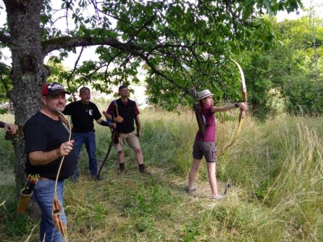 Vier Bogenschützen